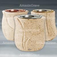 Flower pots in Calizia marble